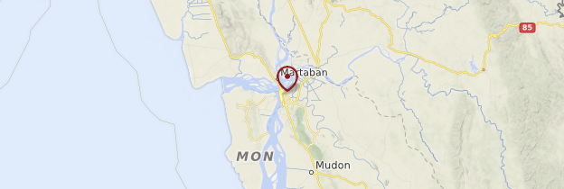 Carte Mawlamyine - Birmanie