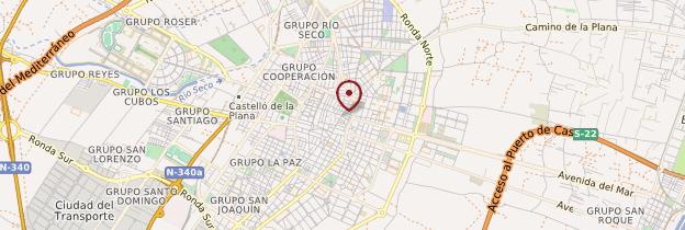 Carte Castellón de la Plana - Espagne