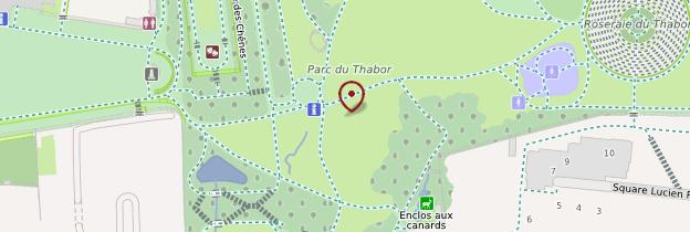 Carte Parc du Thabor - Rennes