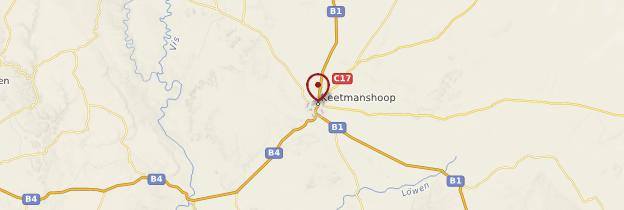 Carte Keetmanshoop - Namibie