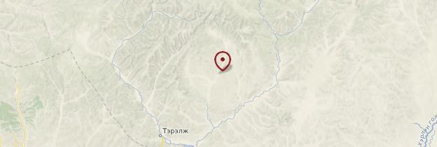 Carte Parc national de Gorkhi-Terelj - Mongolie