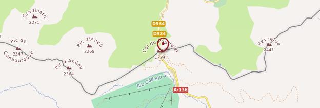 Carte Col du Pourtalet - Pays basque et Béarn