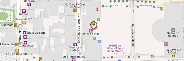 Carte Hôtel de ville - Rennes