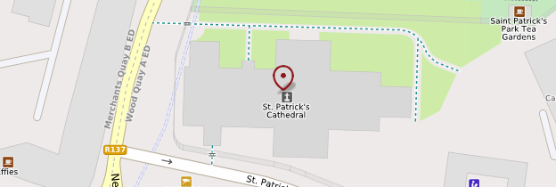 Carte Saint Patrick's Cathedral - Dublin