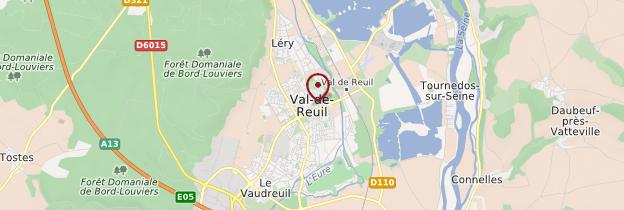 Carte Val-de-Reuil - Normandie
