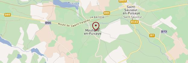 Carte Moutiers-en-Puisaye - Bourgogne