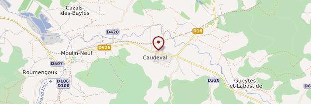 Carte Caudeval - Languedoc-Roussillon