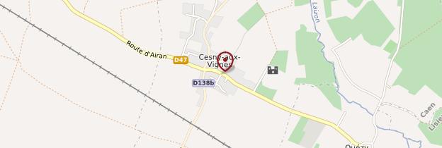 Carte Cesny-aux-Vignes - Normandie
