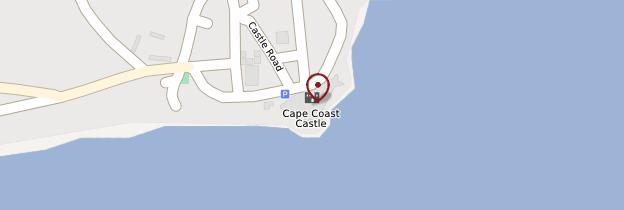 Carte Cape Coast Castle (Fort de Cape Coast) - Ghana