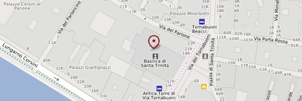 Carte Chiesa Santa Trinità - Florence
