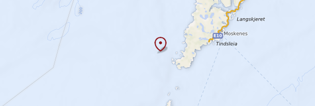 Carte Île d'Austvågøy - Norvège