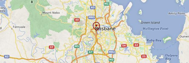 Carte Brisbane - Australie