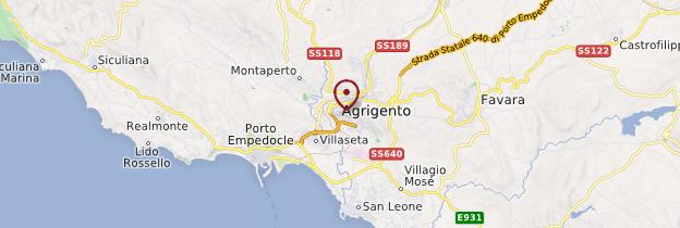 Carte Agrigente - Sicile