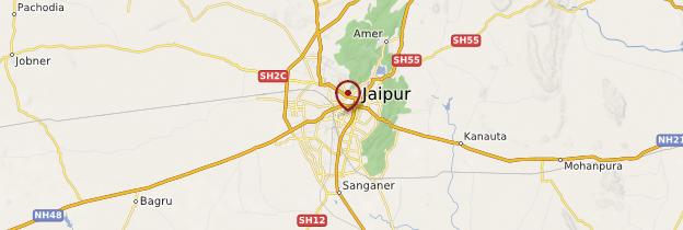 Carte Jaipur - Rajasthan