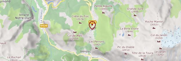 Carte Massif de l'Oisans - Alpes