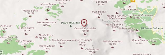 Carte Etna - Sicile