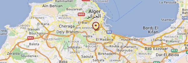 Carte Alger - Algérie
