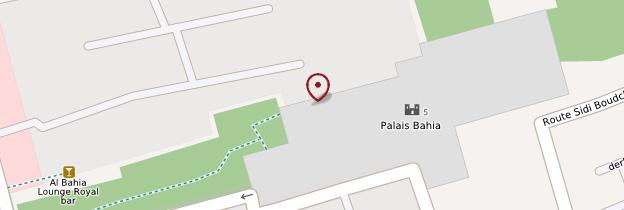 Carte Palais de la Bahia - Marrakech