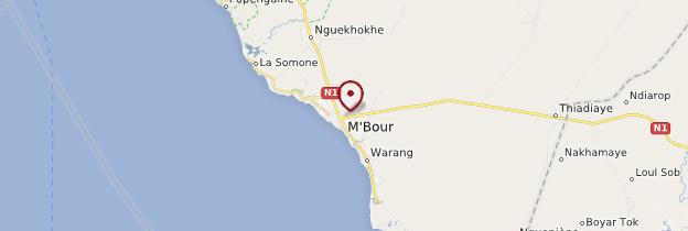 Carte Mbour - Sénégal