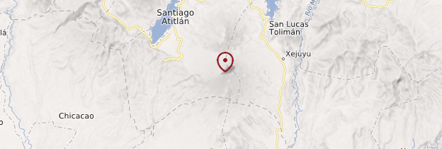 Carte Volcan Atitlán - Guatemala