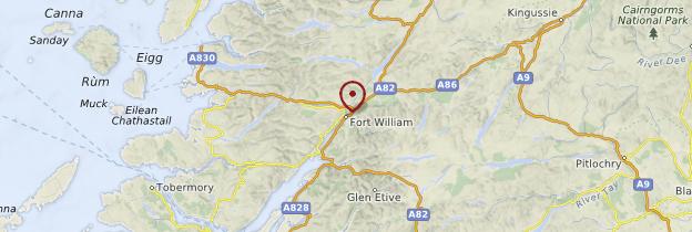 Carte Fort William - Écosse