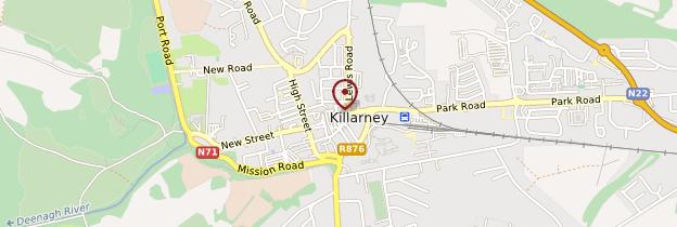 Carte Killarney (Cill Airne) - Irlande