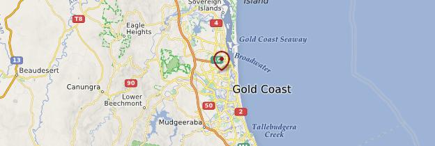 Carte Gold Coast - Australie