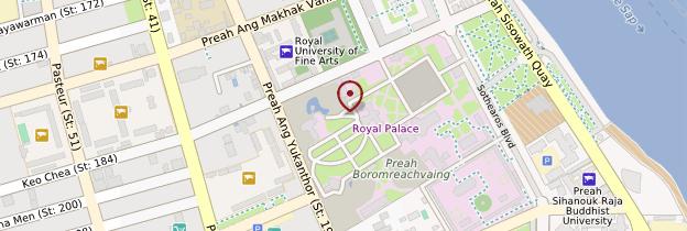 Carte Palais royal - Cambodge