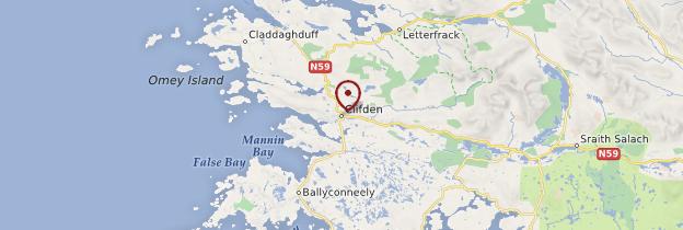 Carte Clifden (An Clochán) - Irlande