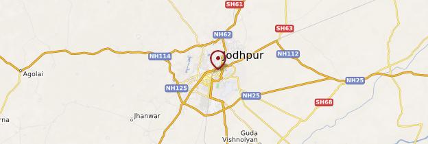 Carte Jodhpur - Rajasthan