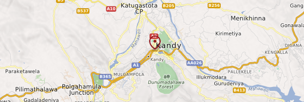 Carte Kandy - Sri Lanka