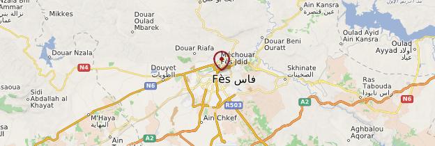 Carte Fès - Maroc