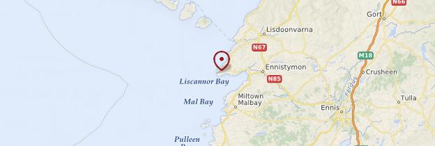Carte Falaises de Moher (Cliffs of Moher) - Irlande