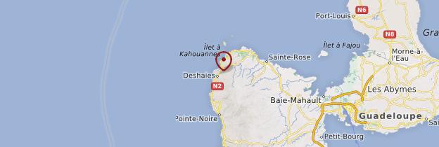 Carte Deshaies - Guadeloupe
