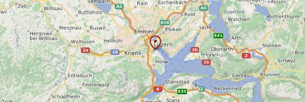 Carte Lucerne - Suisse