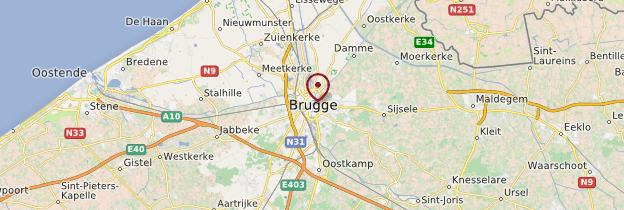 Carte Bruges (Brugge) - Belgique