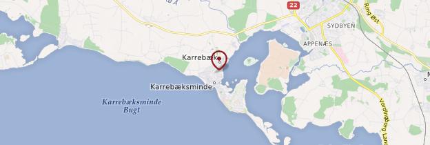 Carte Karrebæksminde - Danemark