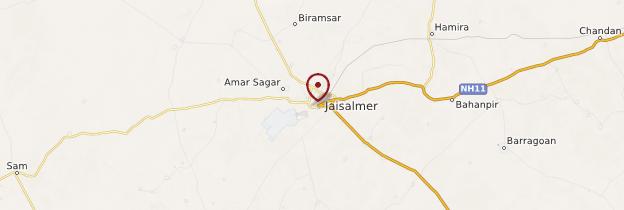 Carte Jaisalmer - Rajasthan