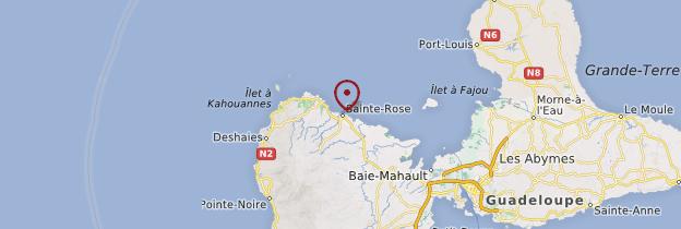 Carte Sainte-Rose - Guadeloupe