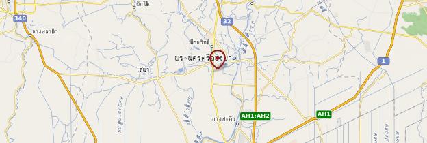 Carte Ayutthaya - Thaïlande