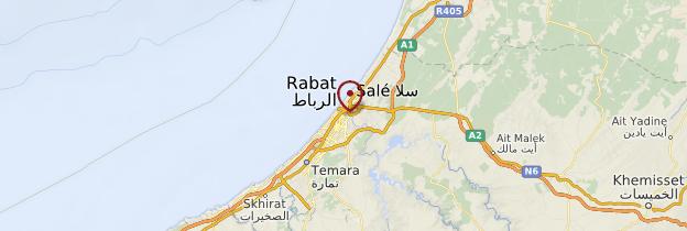 Carte Rabat - Maroc