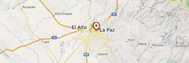 Carte La Paz - Bolivie