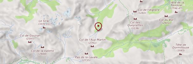 Carte Parc national des Écrins (Hautes-Alpes) - Alpes
