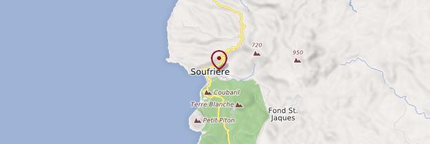 Carte Soufrière - Sainte-Lucie