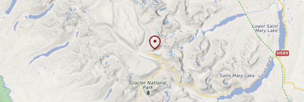 Carte Glacier National Park - États-Unis
