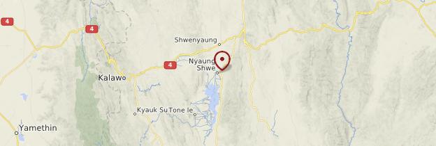 Carte Nyaungshwe (Yaunghwe) - Birmanie