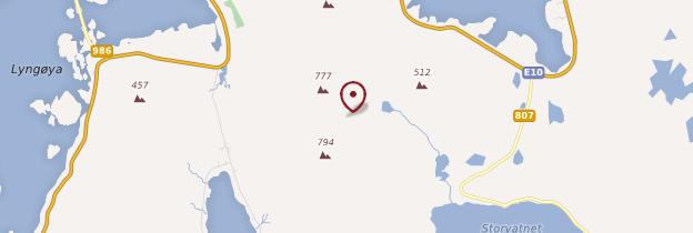Carte Île de Flakstadøy - Norvège