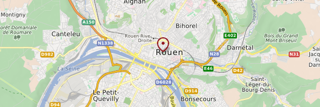 Carte Rouen - Normandie