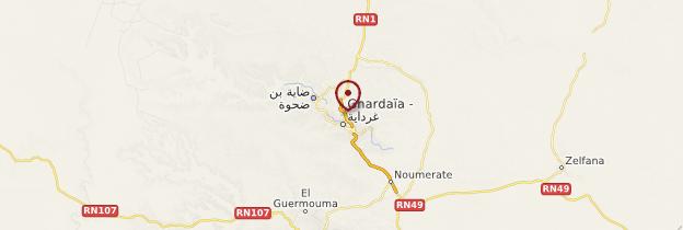 Carte Ghardaïa et ses environs - Algérie