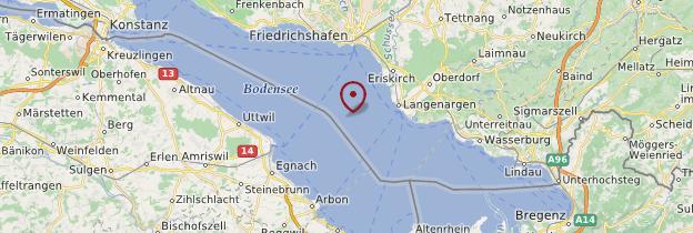 Carte Lac de Constance - Allemagne